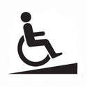 entry and exit ramps for walkers and wheelchairs
