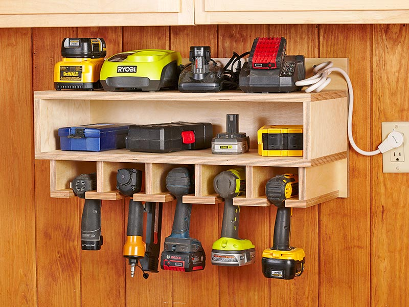 Cordless power tool charging station