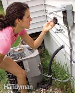 clean your condenser step 1