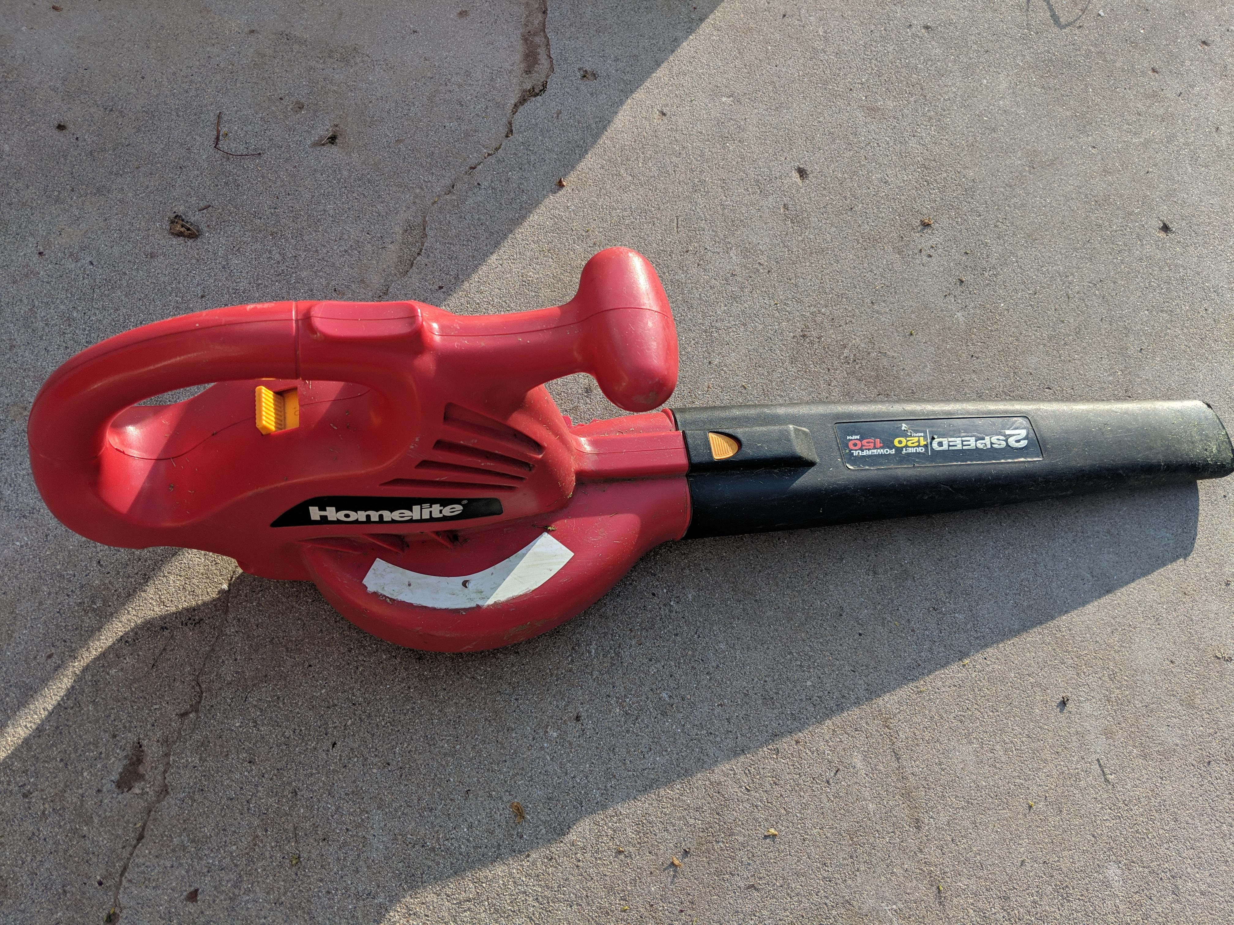 Homelite electric leaf blower